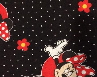 Cotton Black Pillowcase with Minnie Mouse Print