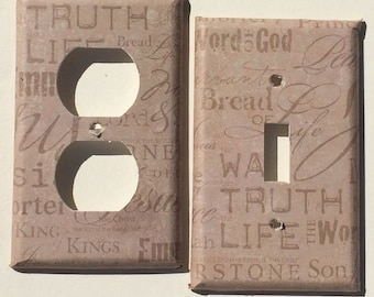 Christian Jesus God Church Pastor Priest Bible  Switchplate Outlet Double Triple Quad Rocker Blank Cable Dimmer