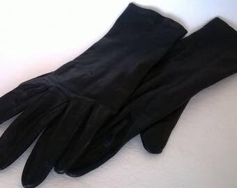 Vintage Black Leather Ladies' Gloves