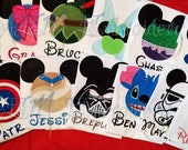 11 + Mousehead Vacation Unisex Shirts  ADULT or KIDS Shirts with Character & Name ONLY (6 - 8  weeks until shipped)