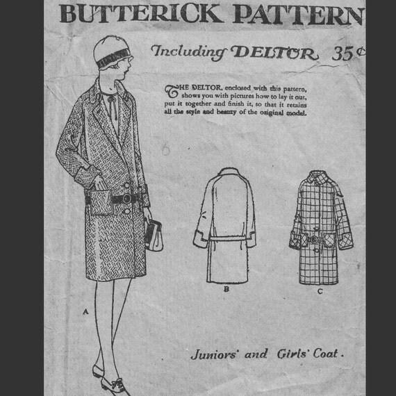 Antique Vintage 1920s Flapper Era Girls Drop Waist Notched ...