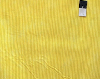 SALE Fabric Traditions Narrow Stripe Yellow Cotton Quilting Fabric By Yard