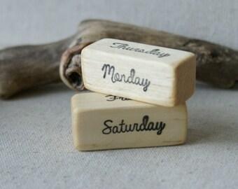 Days of the Week Blocks