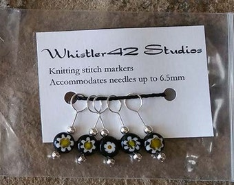 Glass Stitch Markers