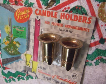 garden club vintage candle holders