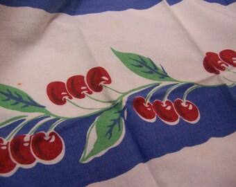 cherries cotton linen