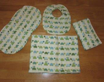 receiving blanket swaddling blanket gift pack_turtles