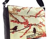 Brown and Orange Bird  MeSSENGER Book Laptop Diaper BAG