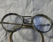 Antique heavy glass and metal safty glasses
