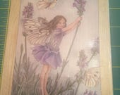 Lavender Flower Fairy Rubber Stamp - Brand New