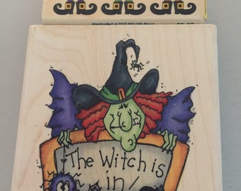 2 Funny Witches Halloween Rubber Stamps
