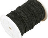 3mm Black Flat Suede Leather Cord - By Yard