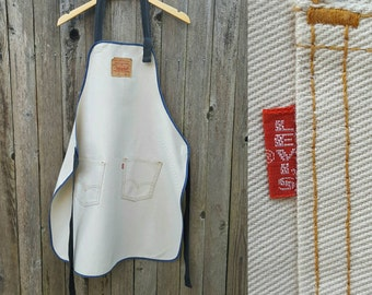 Vintage LEVI'S Apron  //  Rare 70s 80s Vtg Levis Big E Workwear Shop Apron