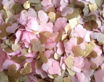 Eco Tissue Confetti Hearts for Wedding - White, Pink, Lavender, Lilac, Plum, Baby Blue, Navy, Orange, Silver, Gold, Dark Gold, Champagne