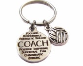 Coach Message Charm, Volleyball Charm, Keychain, Key Chain, Bag Charm, Volleyball Coach Appreciation Gift