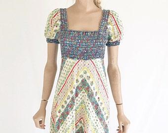Vintage 70's Hippie boho Maxi Dress. Size small