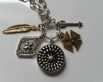 Zipper Charm Necklace