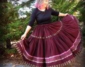 Special Order for Stephanie. Two Tier Full Circle Long Gypsy Patchwork Skirt