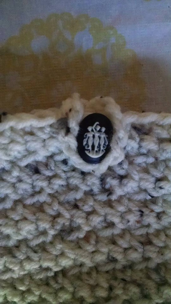 Your Choice of Color Crocheted  Credit Card Money Pouch with Easy Closure Grandma Teen Friend Handmade Gift Idea Matching CellGift for Her