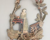 Tole Sconce with Woman