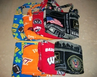 BABY'S FIRST Blanket and Matching Bag (Choose Wisconsin Badgers, Virginia Tech, Fighting Irish ND or U.S. Army Pattern)
