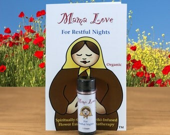 Restful Sleep, Deep Relaxation, Aromatherapy with Flower Essences, Organic, Reiki-Infused Bach Flower