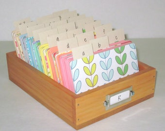 Address Card File...Large...Rolodex...Wedding Guest Book Alternative...Handcrafted...Printed Address Cards...Organizer...Business Card