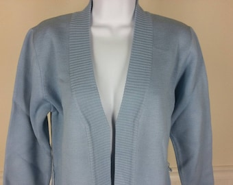NOS new old stock Lilly powder blue cardigan sweater size small chest 40
