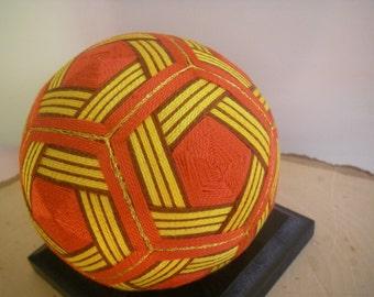 Hand made Temari ball (orange)