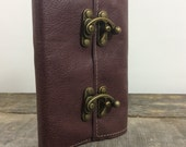 """Refillable leather journal / 4"""" x 6"""" Refillable Notebook with Skeleton Key by Binding bee"""
