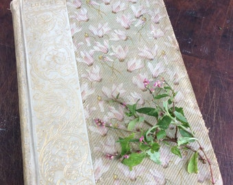 Dainty antique book journal with blank pages by Binding Bee