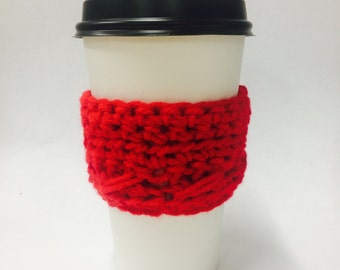 Red with Fun Stitch Coffe or Tea Cozy