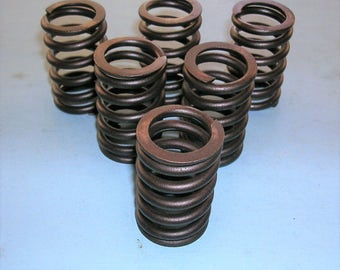 Vintage Metal Springs, Old Metal Coils, Rusty Valve Spring, Steampunk Home Decor, Antique Industrial Supplies, Machinery Parts and Pieces