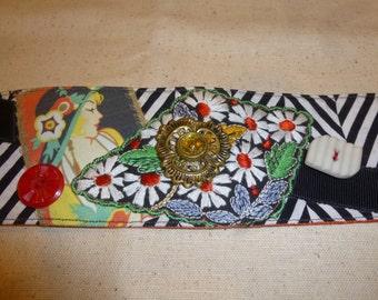 Textile Art Cuff (isa41)