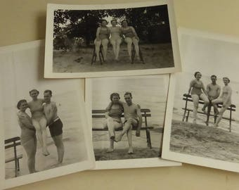 Vintage At the Beach 1940s Snapshots