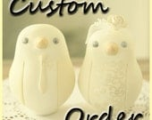 Custom Order Wedding Cake Topper - For nataliemelissa84