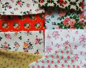 Patchwork - Sewing lot - French Floral Fabrics - Lot of 8