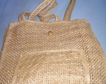 Light and airy woven beach bag