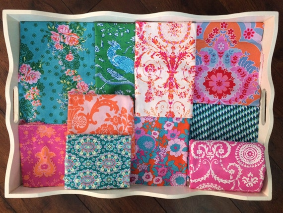 Jennifer Paganelli Teal and Orange Blanket Made to Order