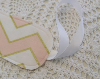 Single Luggage Tag - Pink & Gold Chevron