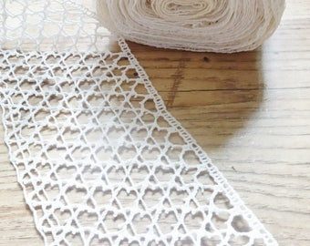 10 yards of vintage cotton lace 3 1/4 inch wide