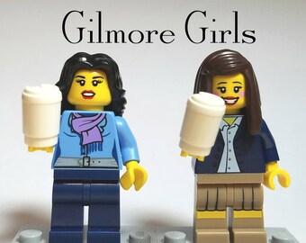 Gilmore Girls - Custom Lego Minifigure Set - Lorelai and Rory Gilmore