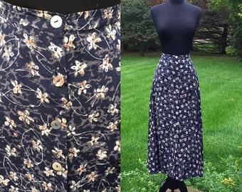 Gypsy Bleu Vintage 70s Bohemian Skirt