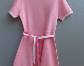 Vintage Little Girls Dress, Pink Girls Dress, Biquette,