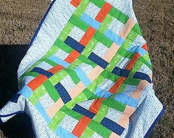 Bright Blocks Baby Quilt