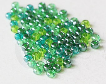 25 Grams Czech Rocailles Preciosa 6/0 Seed Beads - Sea Green Luster Mix - Size 6 (PS0132)
