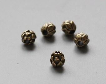 2 Pieces Antique Brass Brass Base Spacer - Flower 7.6mm (1262C-V-125)