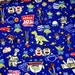 Disney Licensed  Fabric Toys Story   Buzz Lightyear Pizza Planet Half meter Printed in Japan nc25