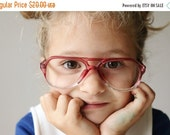 25% OFF SALE 1980s Raspberry Double Bridge Frames~Size 48-20-135