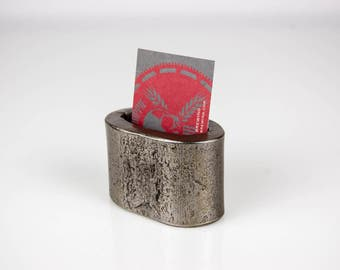 Scrap Steel Business Card Holder Forged from Recycled Steel